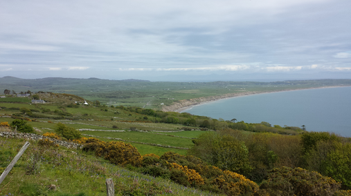 Panorama of Llyn Peninsula in North Wales